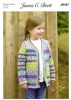 Knitting Pattern - James C Brett JB487 - Fairground DK - Cardigan